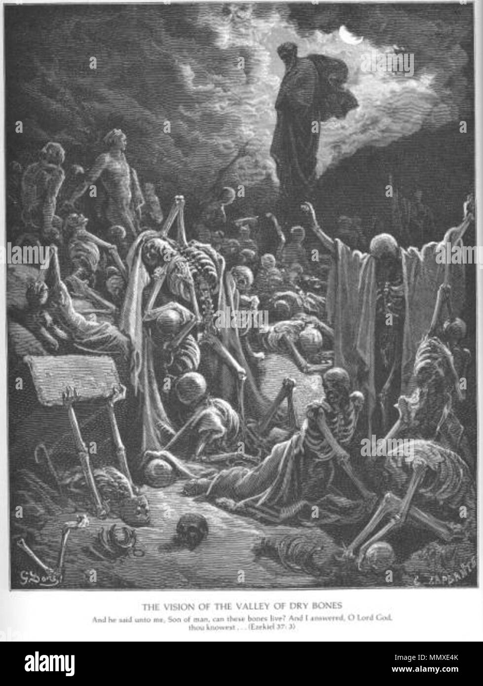 Ezekiel's Vision of the Valley of Dry Bones - Stock Image