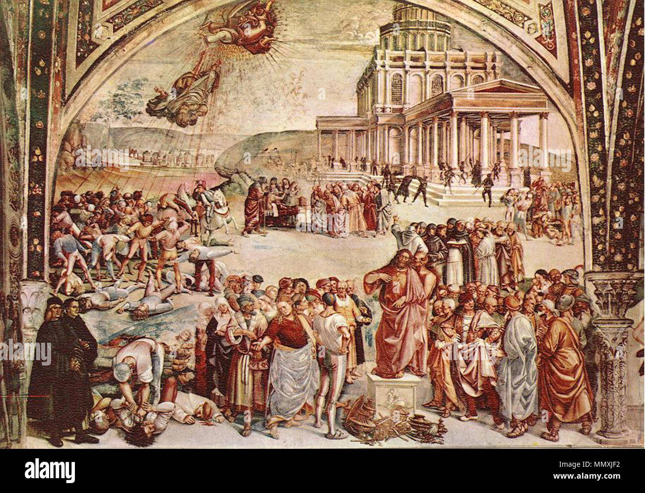 Sermon and Deeds of the Antichrist. between 1499 and 1502. Fra angelico  luca signorelli orvieto