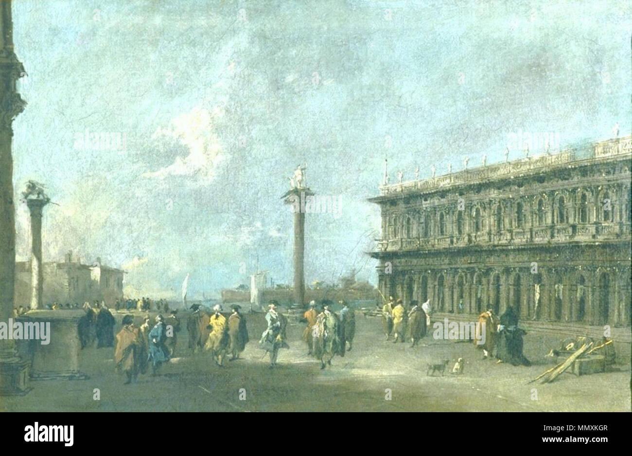 [Bildindex  der Kunst und Architektur] Francesco Guardi - Die Piazzetta di San Marco in Venedig Stock Photo