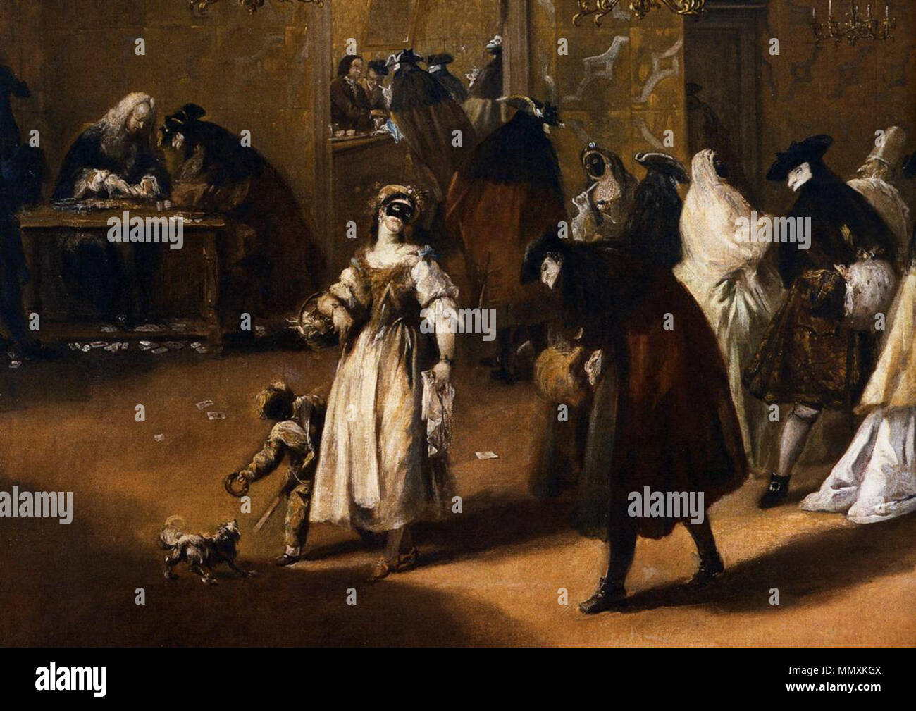. detail  Il Ridotto. 1755. Francesco Guardi - Il Ridotto (detail) - WGA10830 Stock Photo
