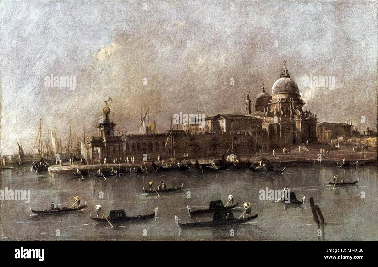Venice: A View of the Entrance to the Grand Canal. second half of 18th century. Francesco Guardi - Venice - A View of the Entrance to the Grand Canal - WGA10887 Stock Photo