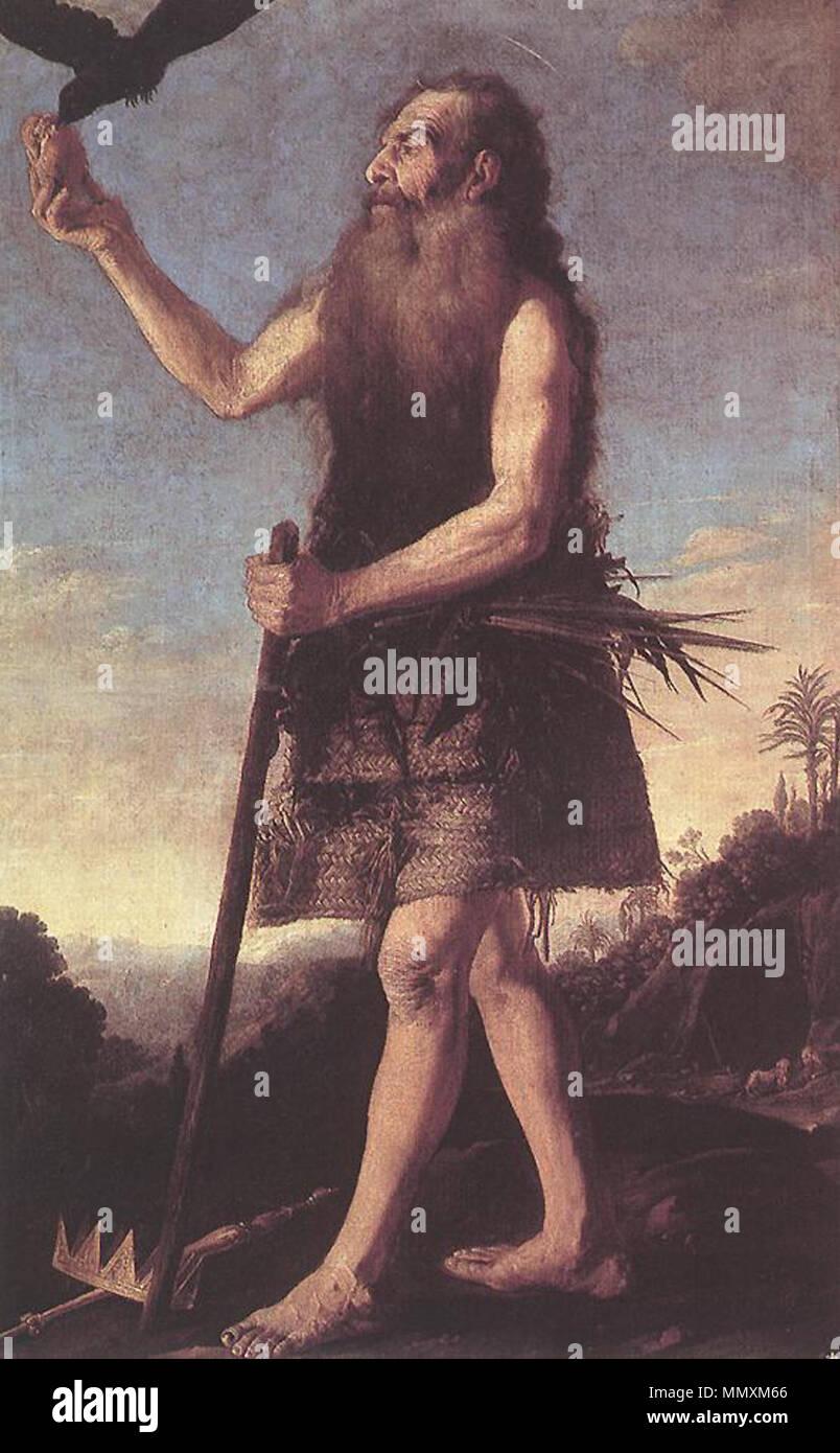 .  Español: La obra representa al eremita cristiano San Onofre.  Saint Onuphrius. Ca. 1645. Francisco Collantes - St Onuphrius - WGA5152 - Stock Image