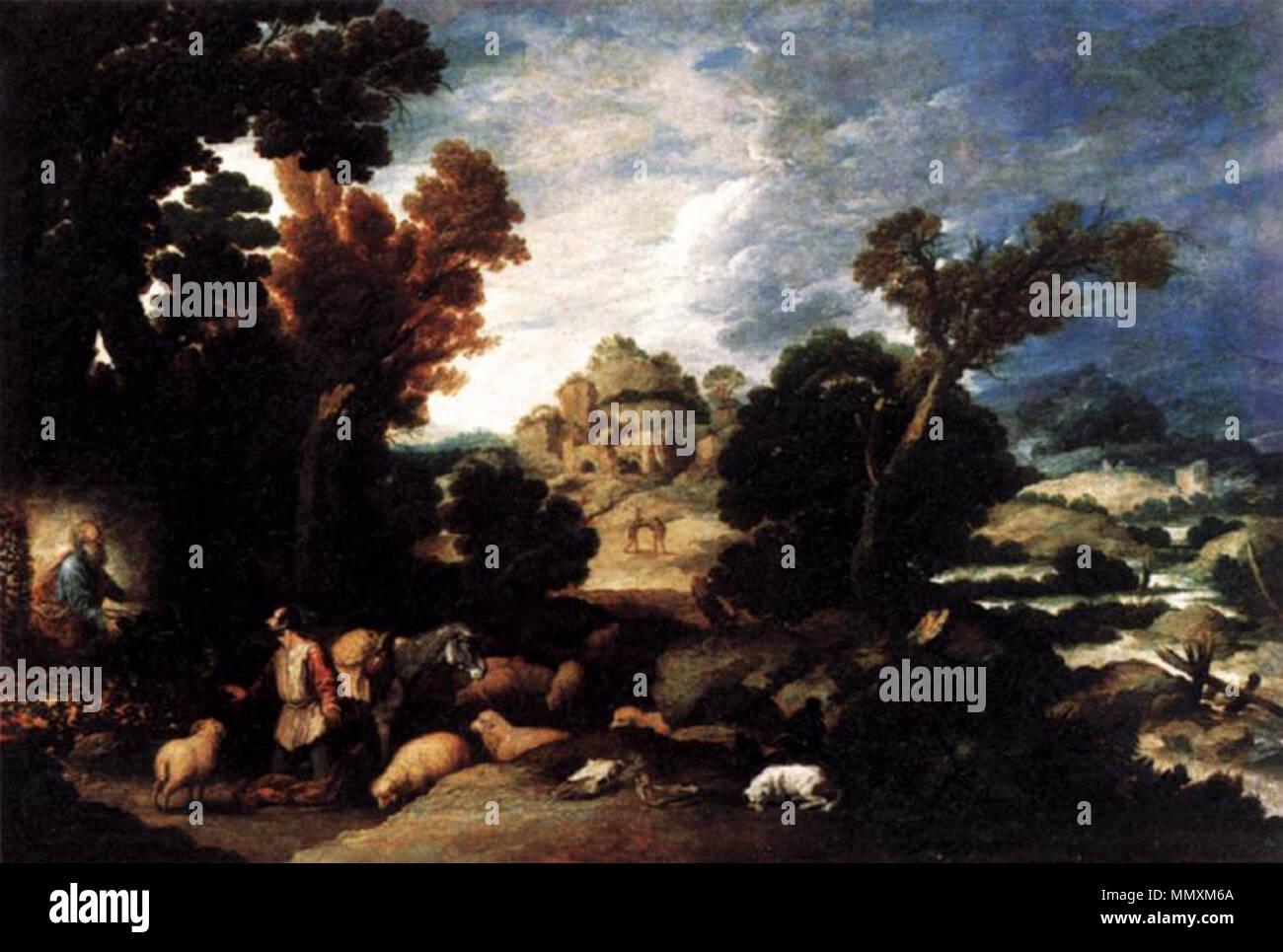 English: The Burning Bush . circa 1634. Francisco Collantes - The Burning Bush - WGA5150 - Stock Image