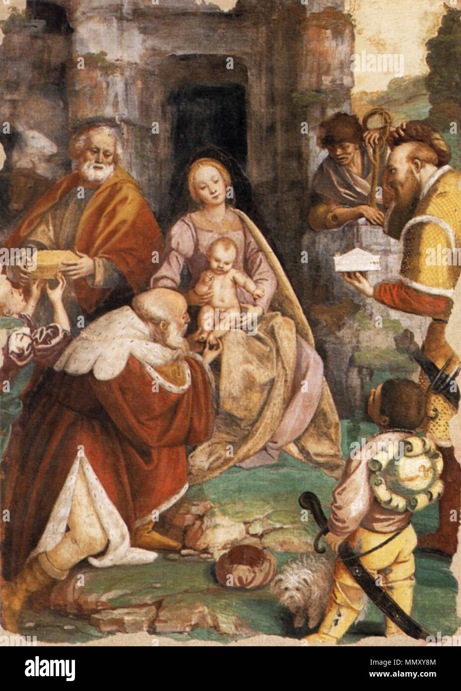 The Adoration of the Magi. between 1544 and 1545. Gaudenzio Ferrari - The  Adoration of the Magi - WGA07818