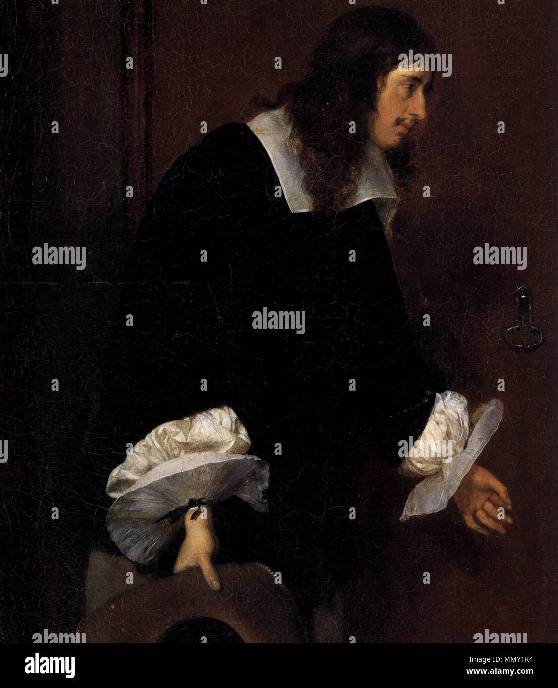 The Suitor's Visit (detail). circa 1658. Gerard ter Borch (II) - The Suitor's Visit (detail) - WGA22126 Stock Photo