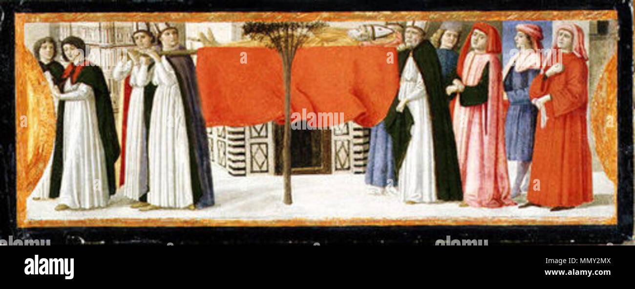 Burial of Saint Zenobius.. 1479. David ghirlandaio, sepoltura di san zanobi - Stock Image