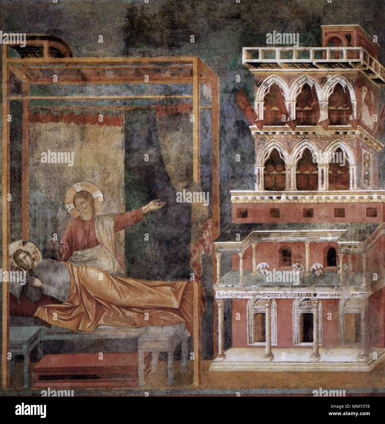 Dream of the Palace . between 1297 and 1299. Giotto di Bondone - Legend of  St Francis - 3. Dream of the Palace - WGA09120