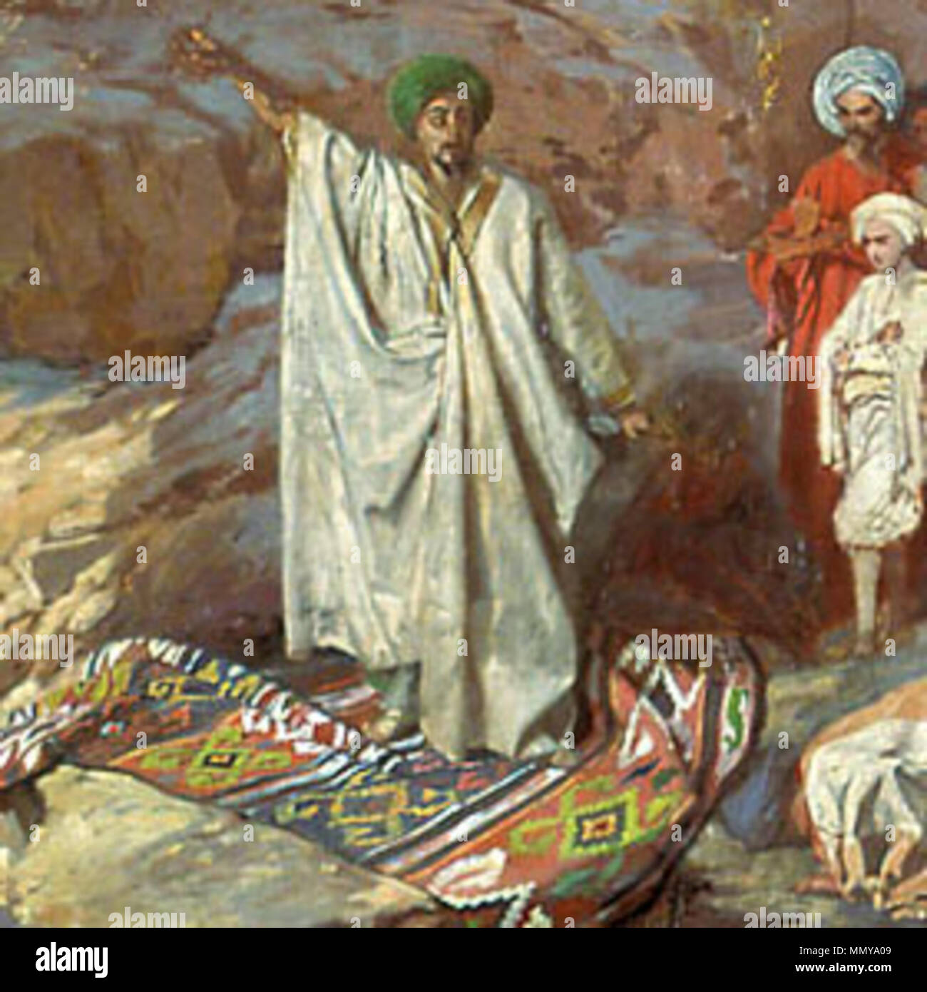 this russian painting from 1840 1850 shows prophet muhammad