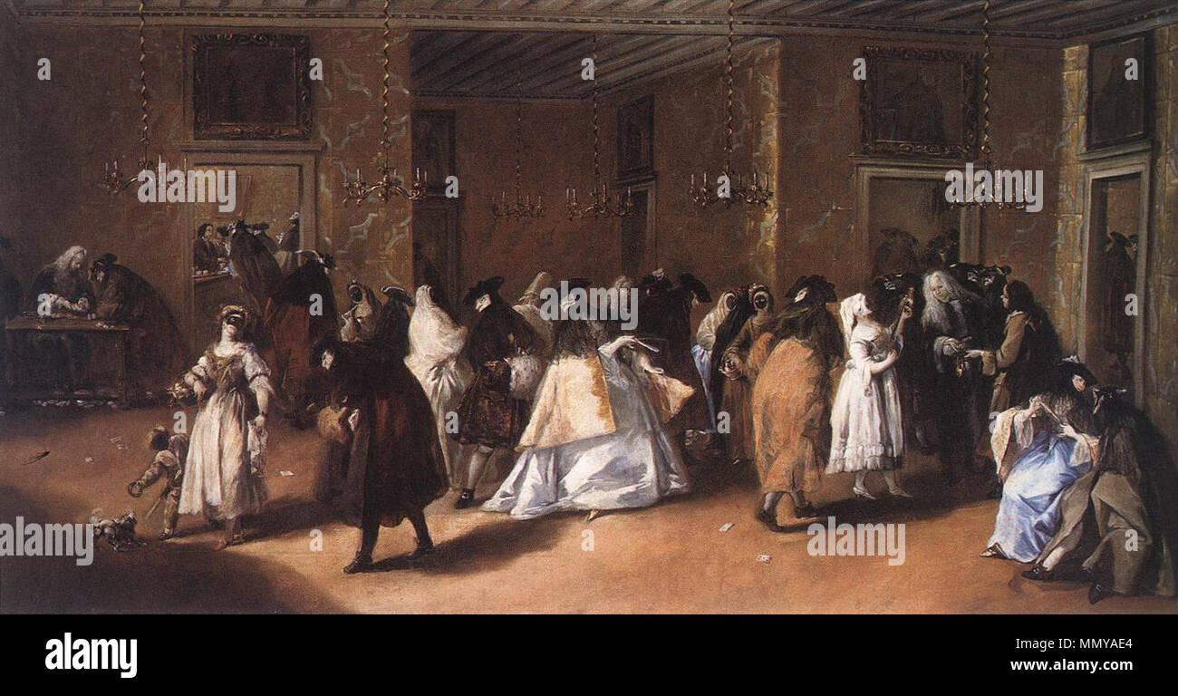 The Foyer. 1755. Francesco Guardi - Il Ridotto (The Foyer) - WGA10829 Stock Photo