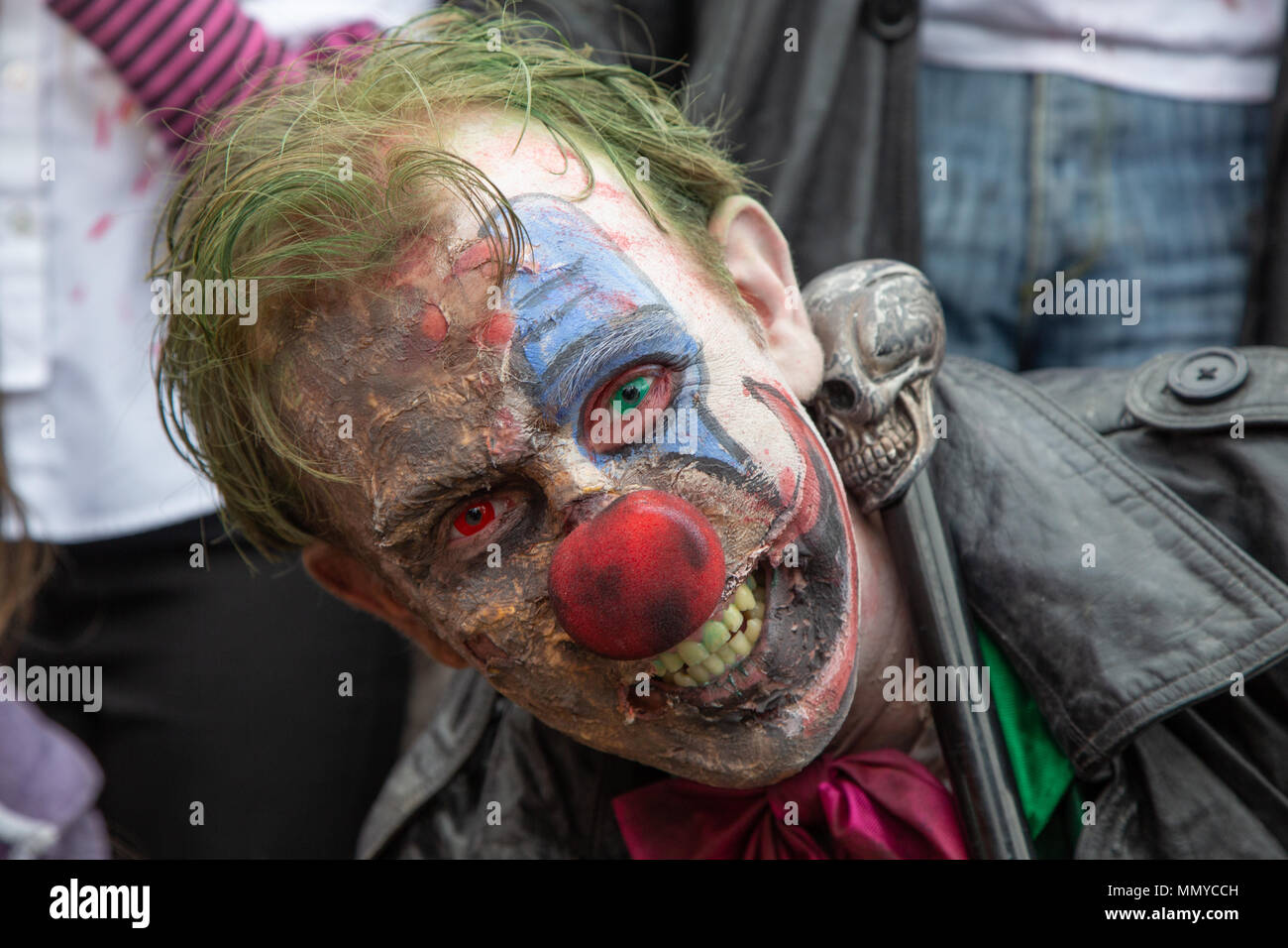 Zombies take part in the annual Southend Pier zombie walk, Southend on Sea, Essex - Stock Image
