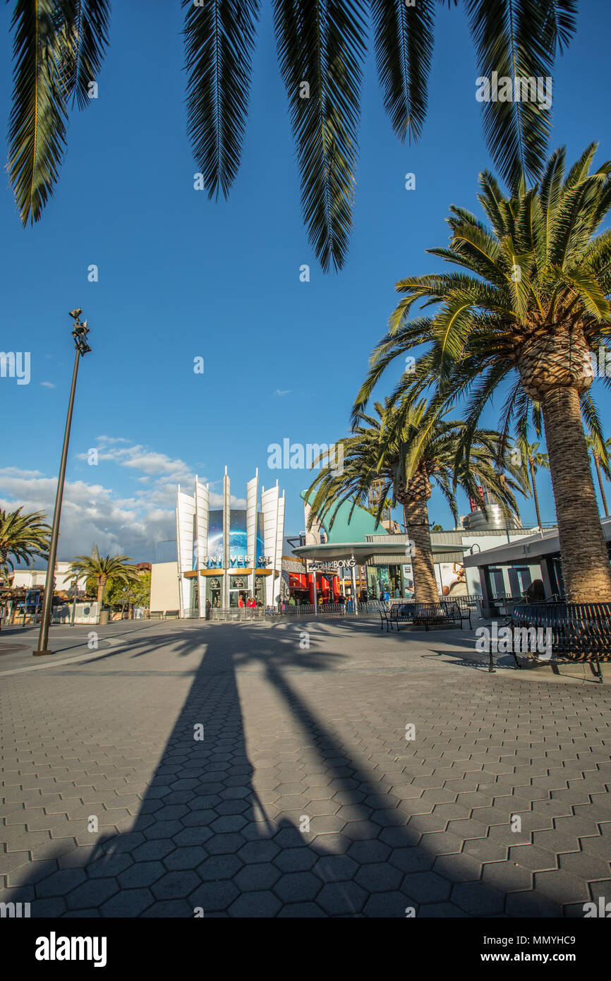 LOS ANGELES, USA - March, 2018: Universal Studios Hollywood Park, the first film studio and theme park of Universal Studios Theme Parks across the world. Stock Photo