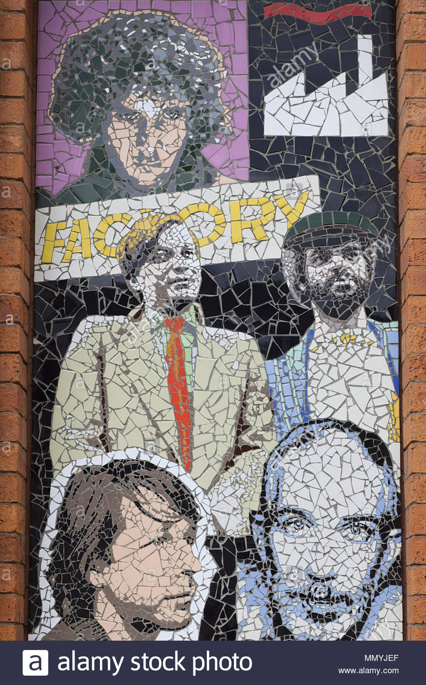 Factory Records mosaic, Manchester, - Stock Image