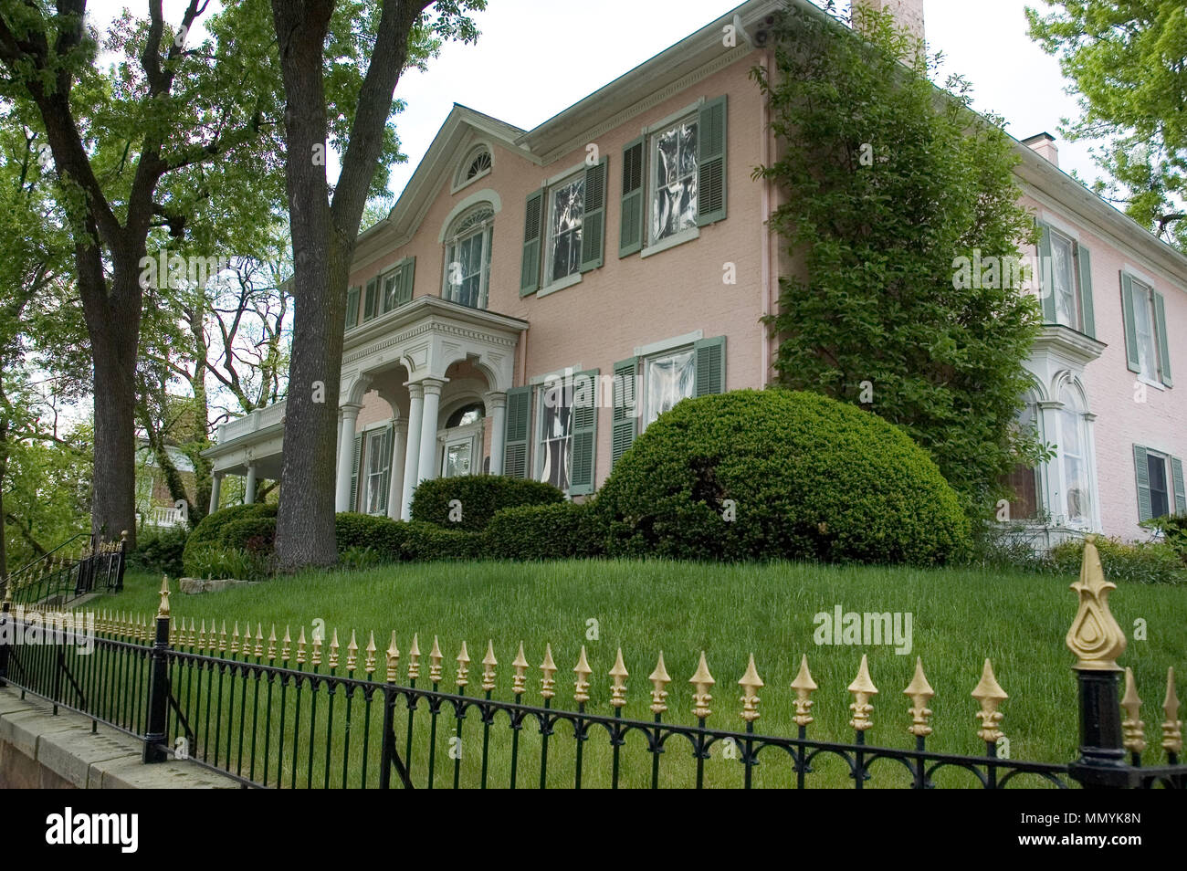 Interesting Color Of Pink On This House Beautiful Wrought Iron