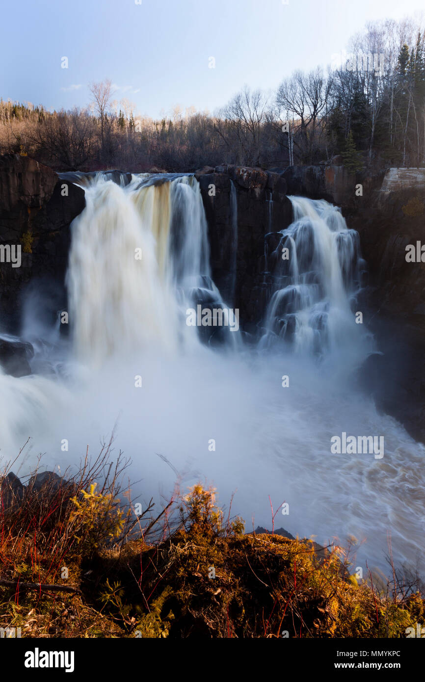High Falls at Grand Portage State Park - Stock Image