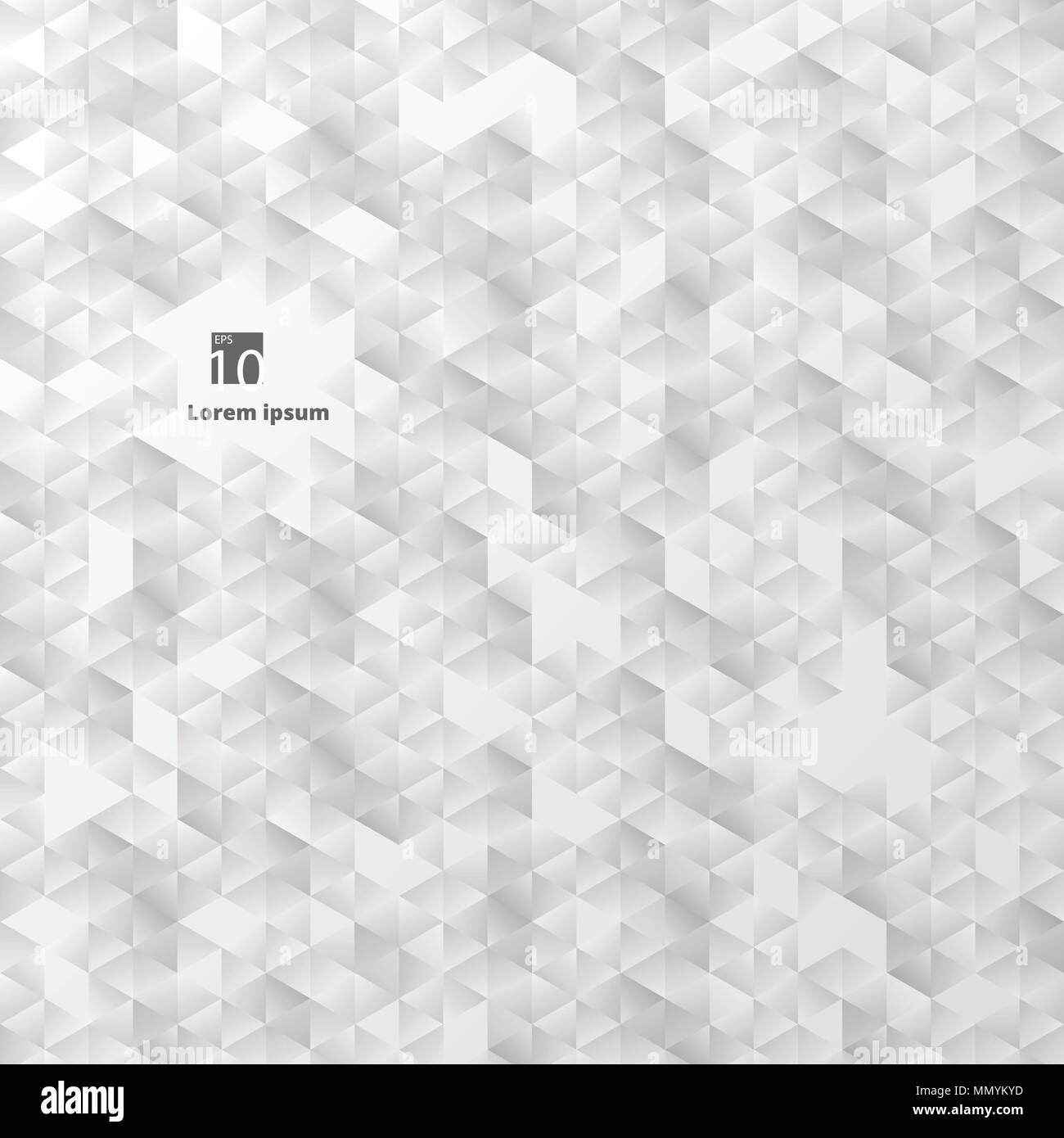 abstract of plain geometric triangle in grey gradient color background, illustration vector eps10 - Stock Image