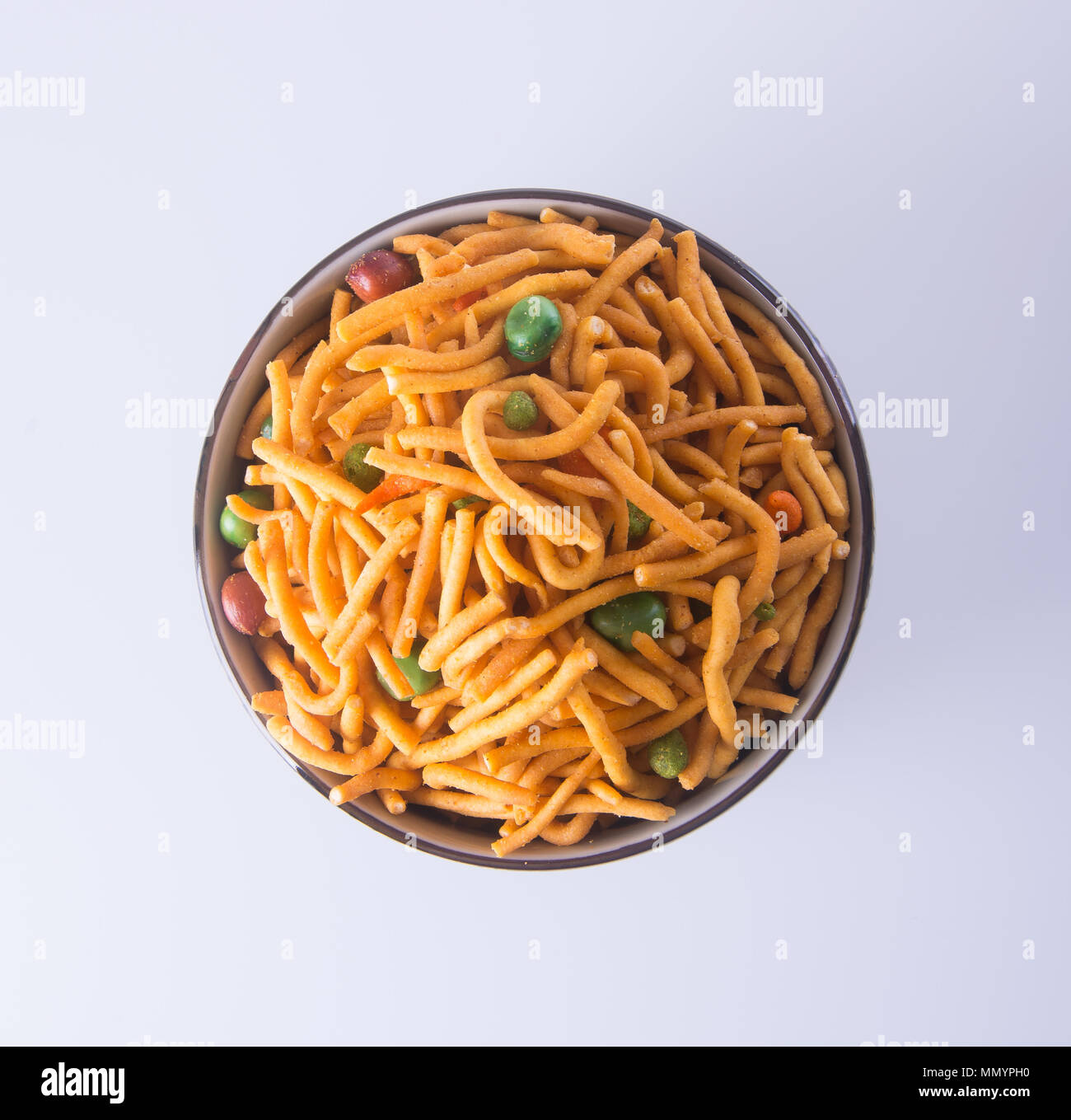 murukku or traditional indian snack on background Stock Photo