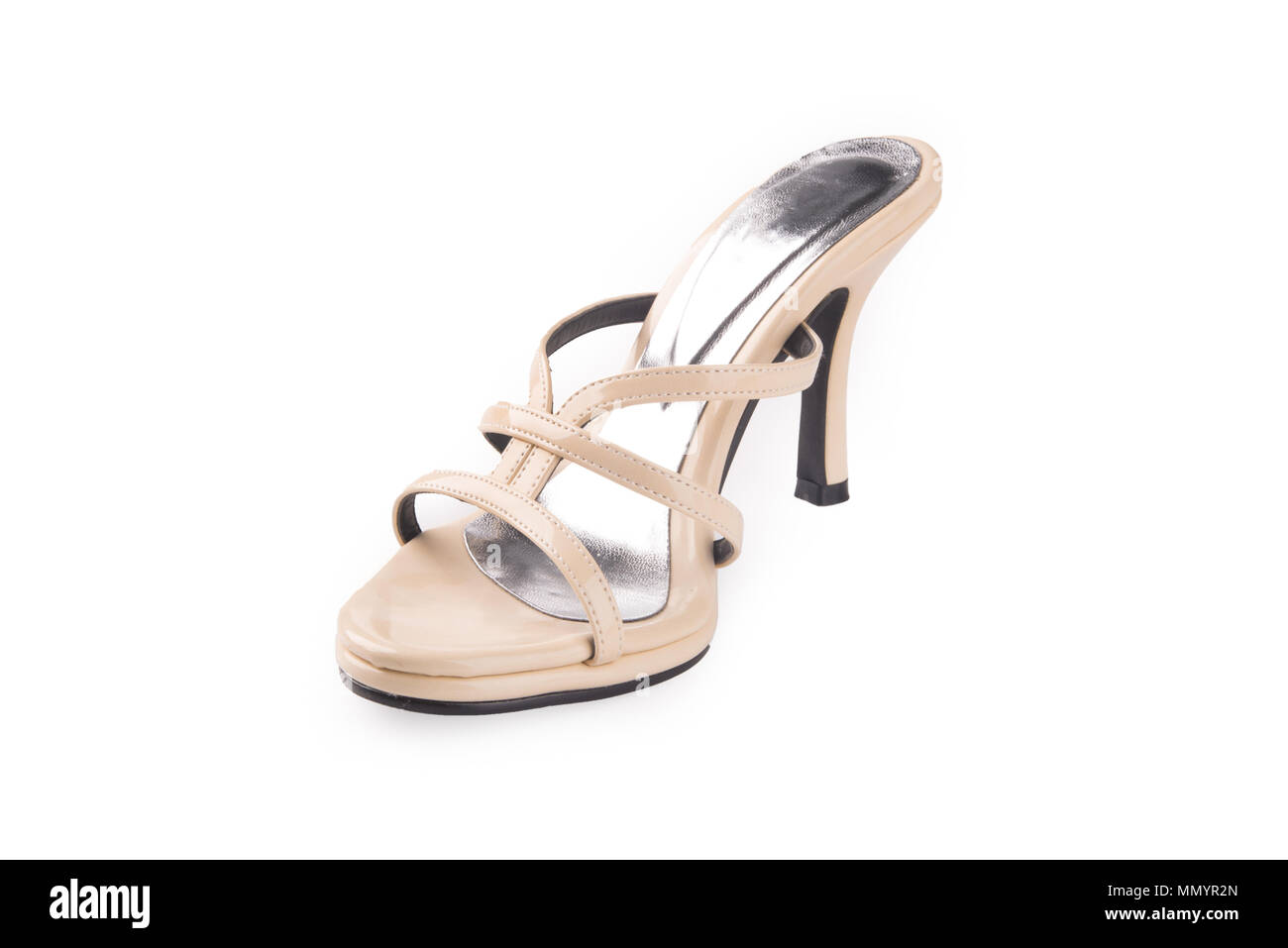 shoe or Brown colour casual woman shoes on a background Stock Photo