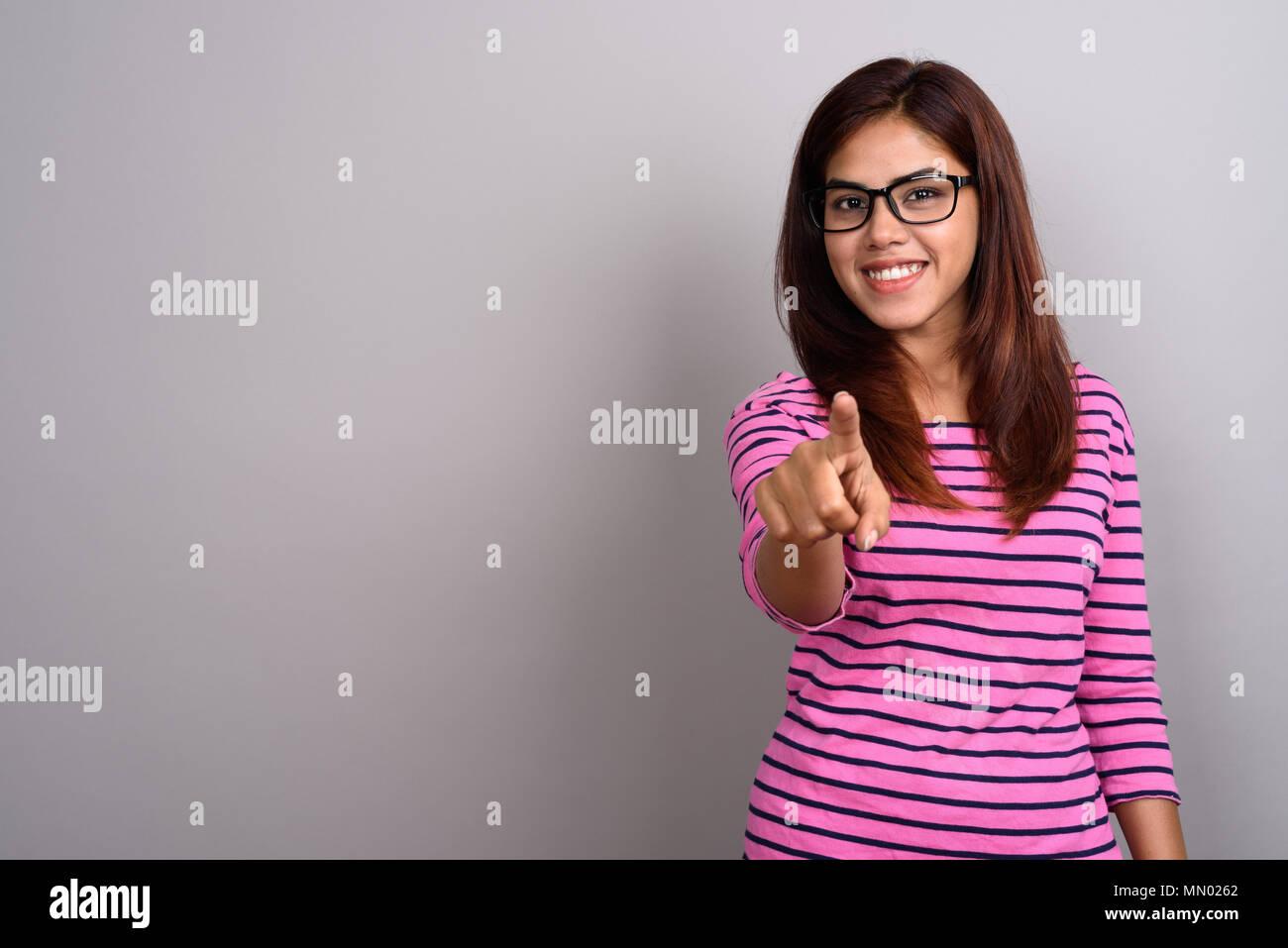 beautiful indian girl wearing glasses stock photos & beautiful
