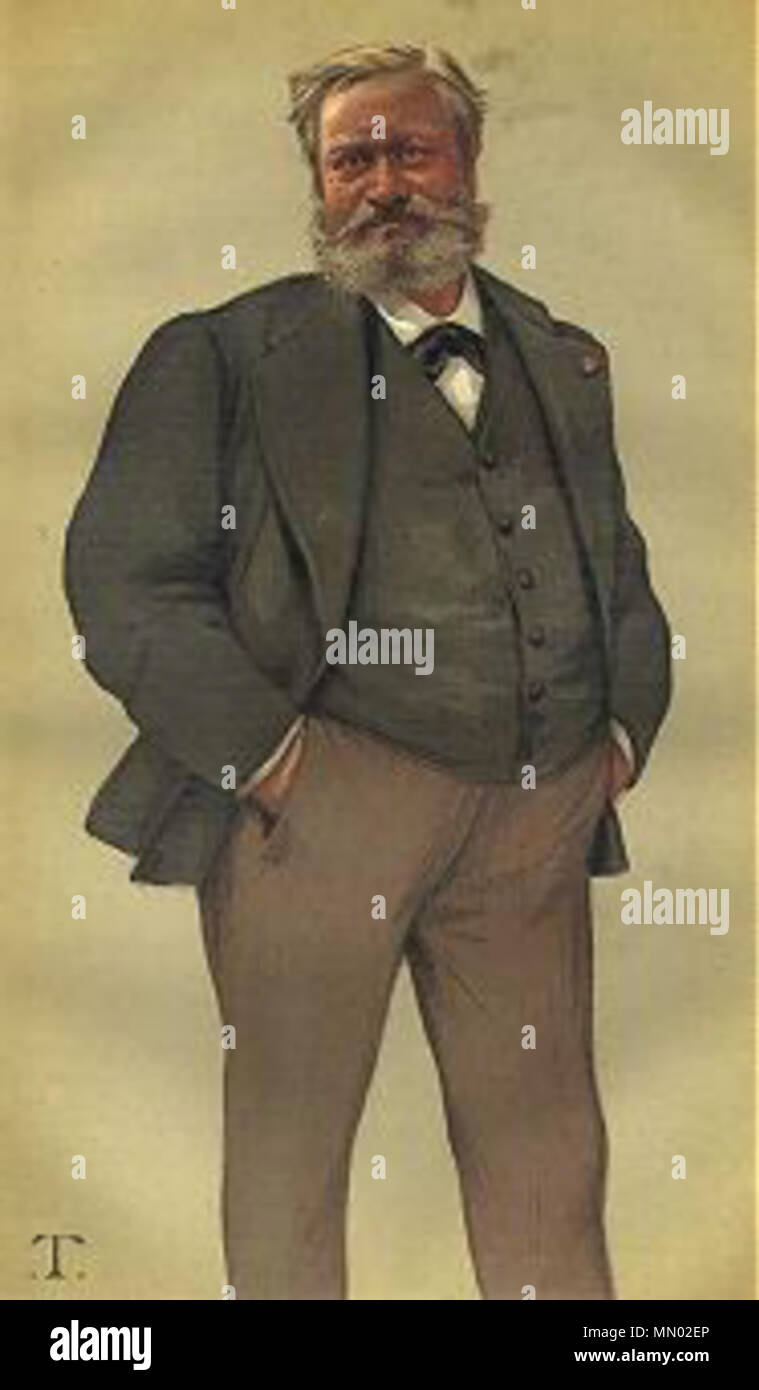 Caricature of Edmond François Valentin About. Caption read 'French ...