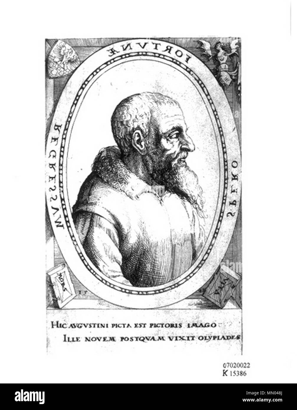 . German engraver, etcher and printmaker Hirschvogel Self Portrait 2 - Stock Image