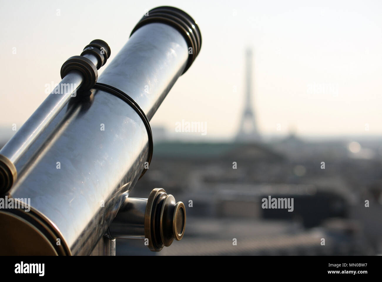 Paris viewpoint with the Eiffel tower in the background - Stock Image