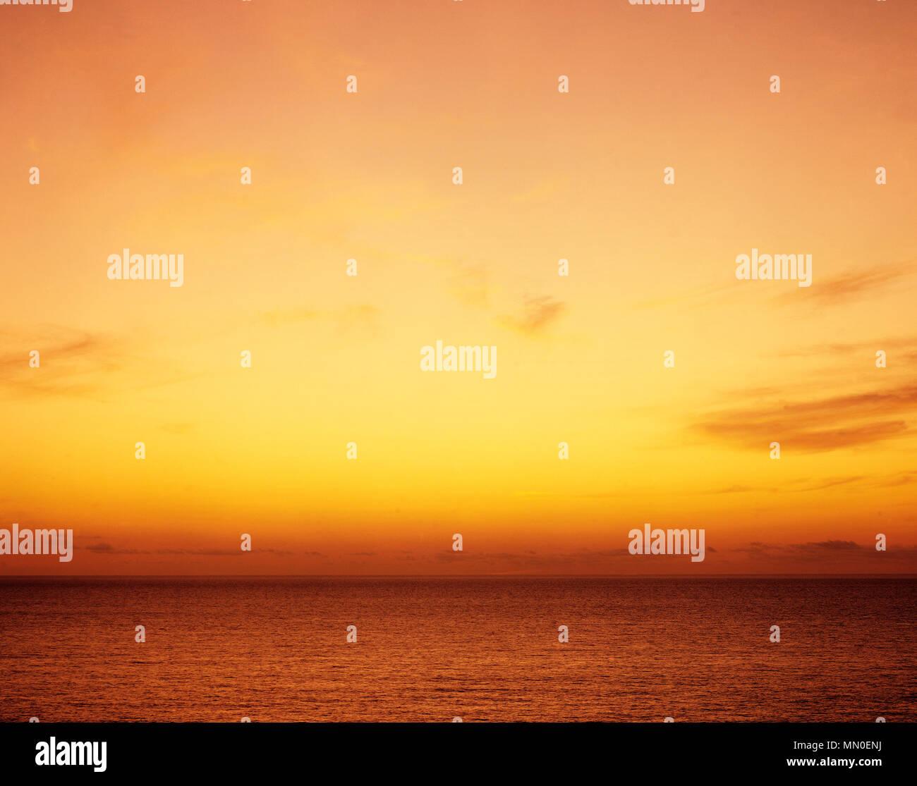 Dawn over the Atlantic Ocean. - Stock Image