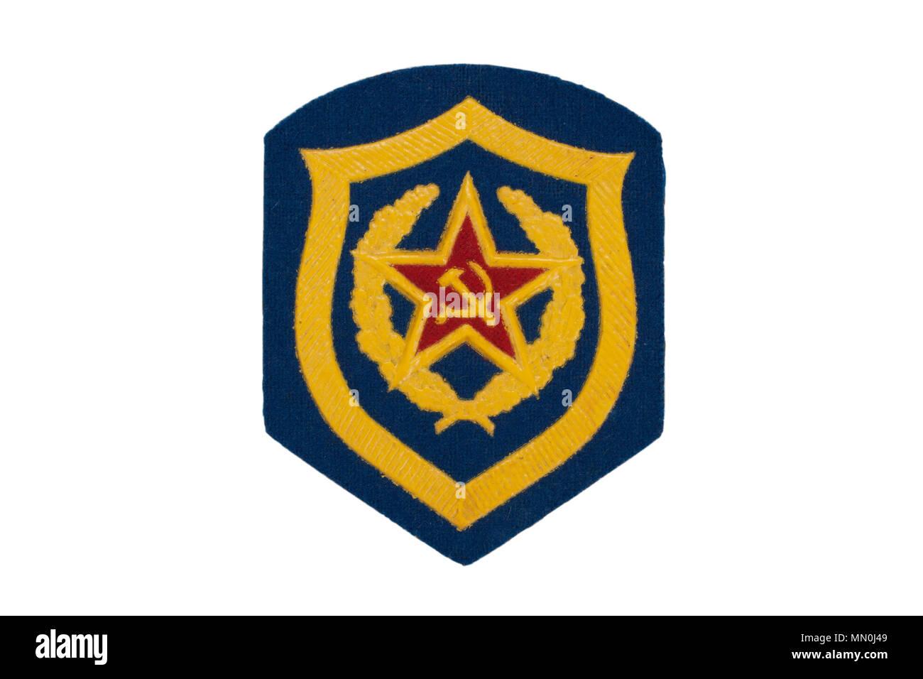 soviet army mechanized infantry badge isolated - Stock Image