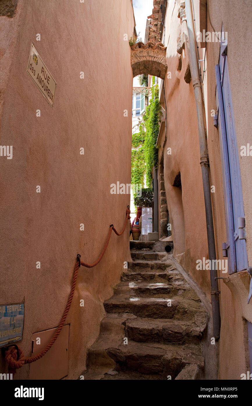 Le Treppenaufgang ramatuelle cote d azur provence stock photos ramatuelle