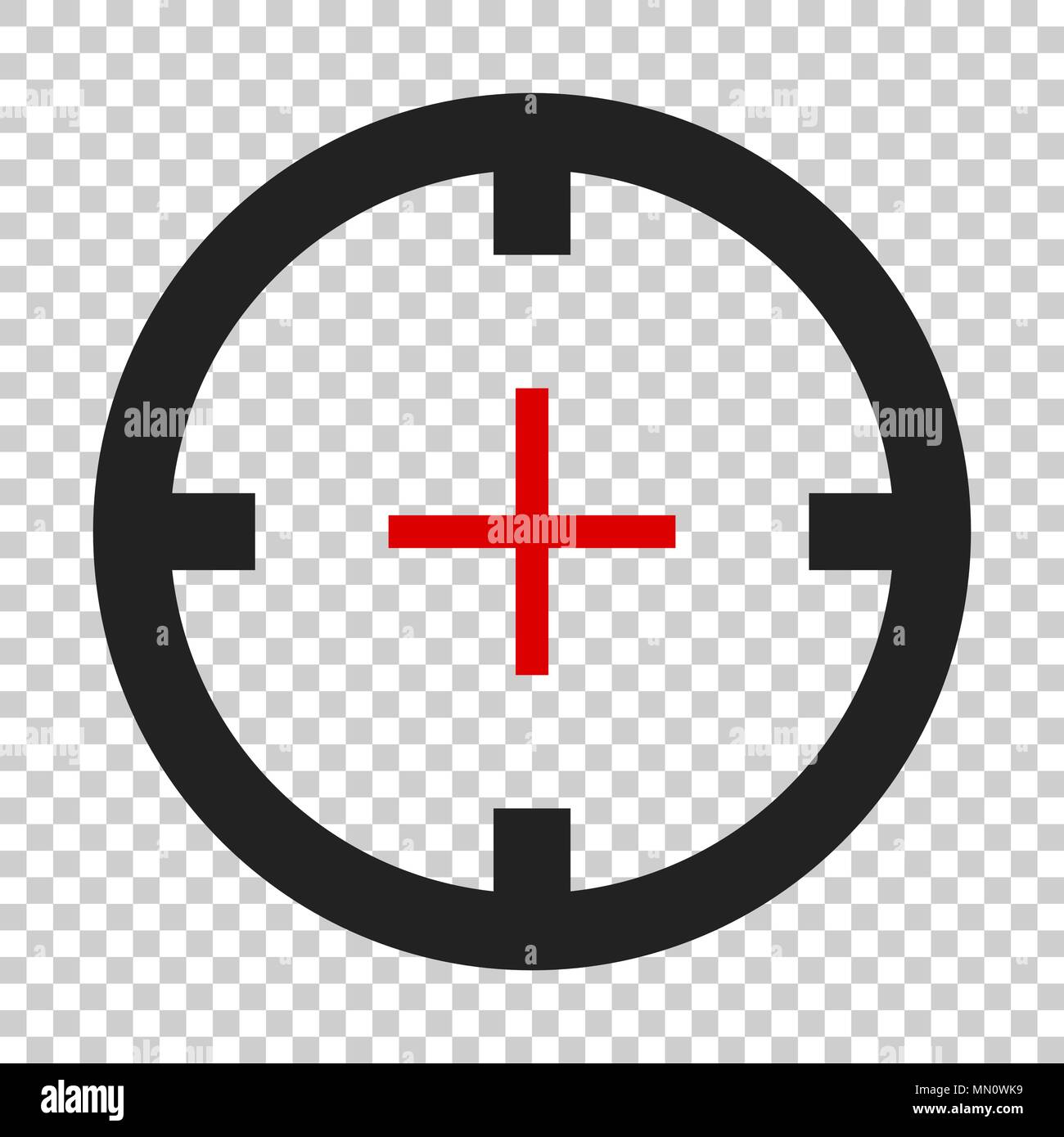 Shooting Target Vector Icon In Flat Style Aim Sniper Symbol Illustration On Isolated Transparent Background Business Concept