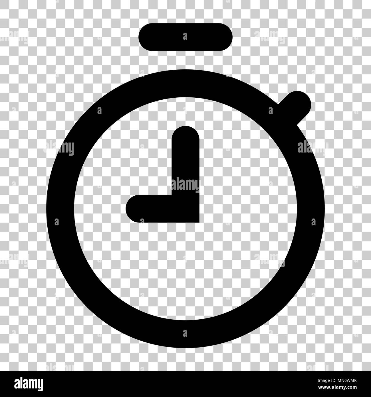 Clock timer icon in flat style  Time alarm illustration on