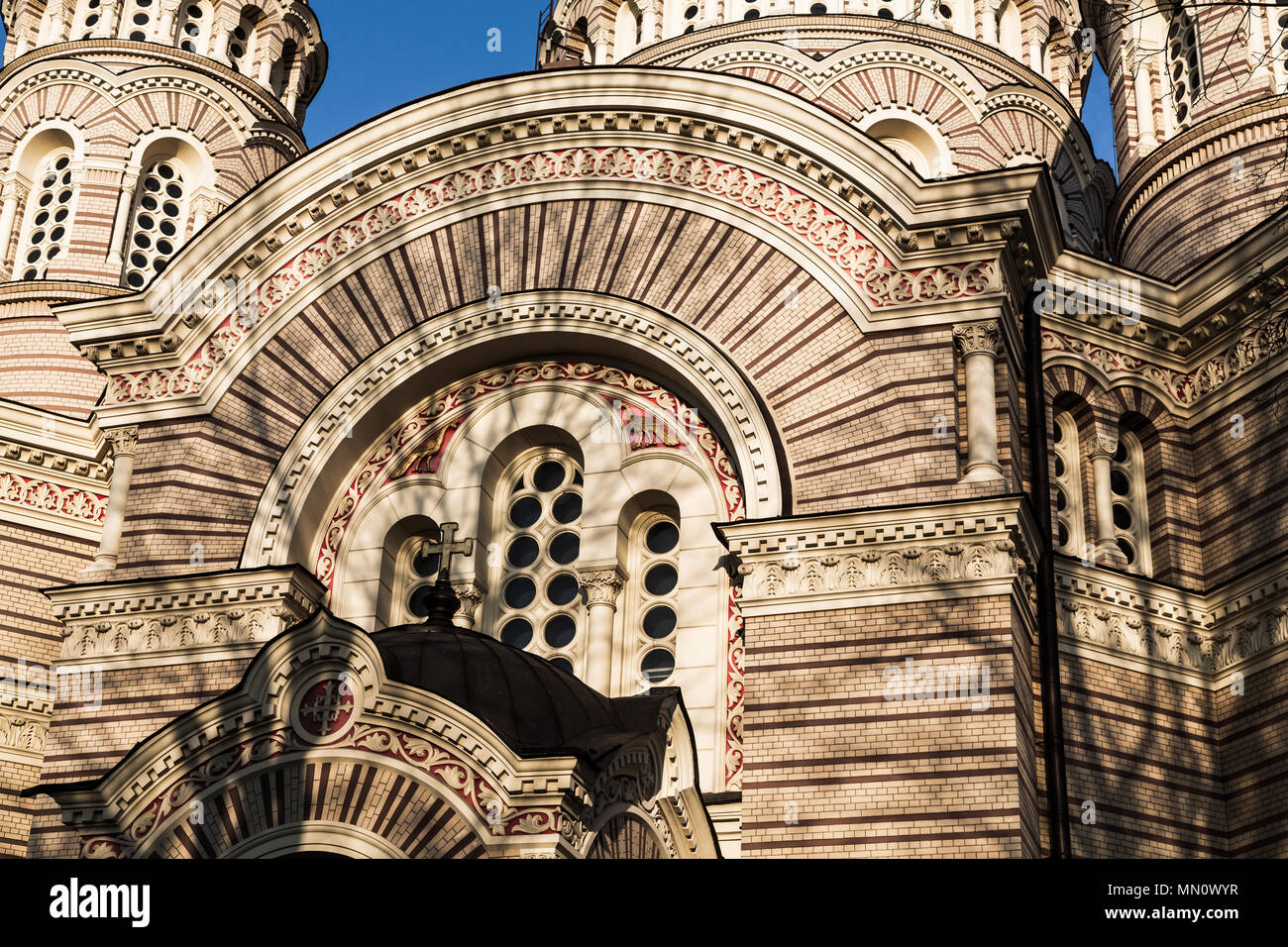 Riga Nativity of Christ Orthodox Cathedral - Stock Image