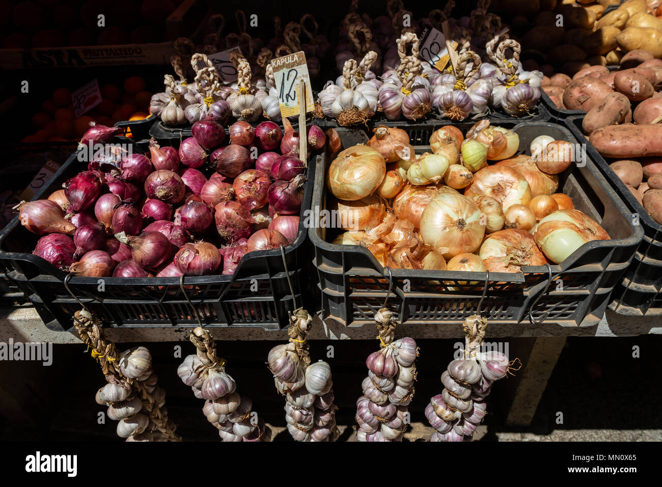 PULA, CROATIA - JUNE 26, 2017.Vegetables at local marketplace - Stock Image