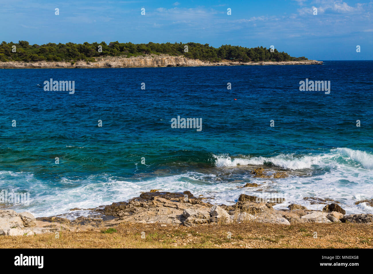 Coastline in Pula, Croatia - Stock Image