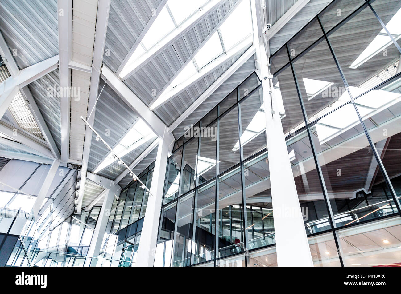 Interior of The Crystal Building - one of the most sustainable buildings in the world, London, UK - Stock Image