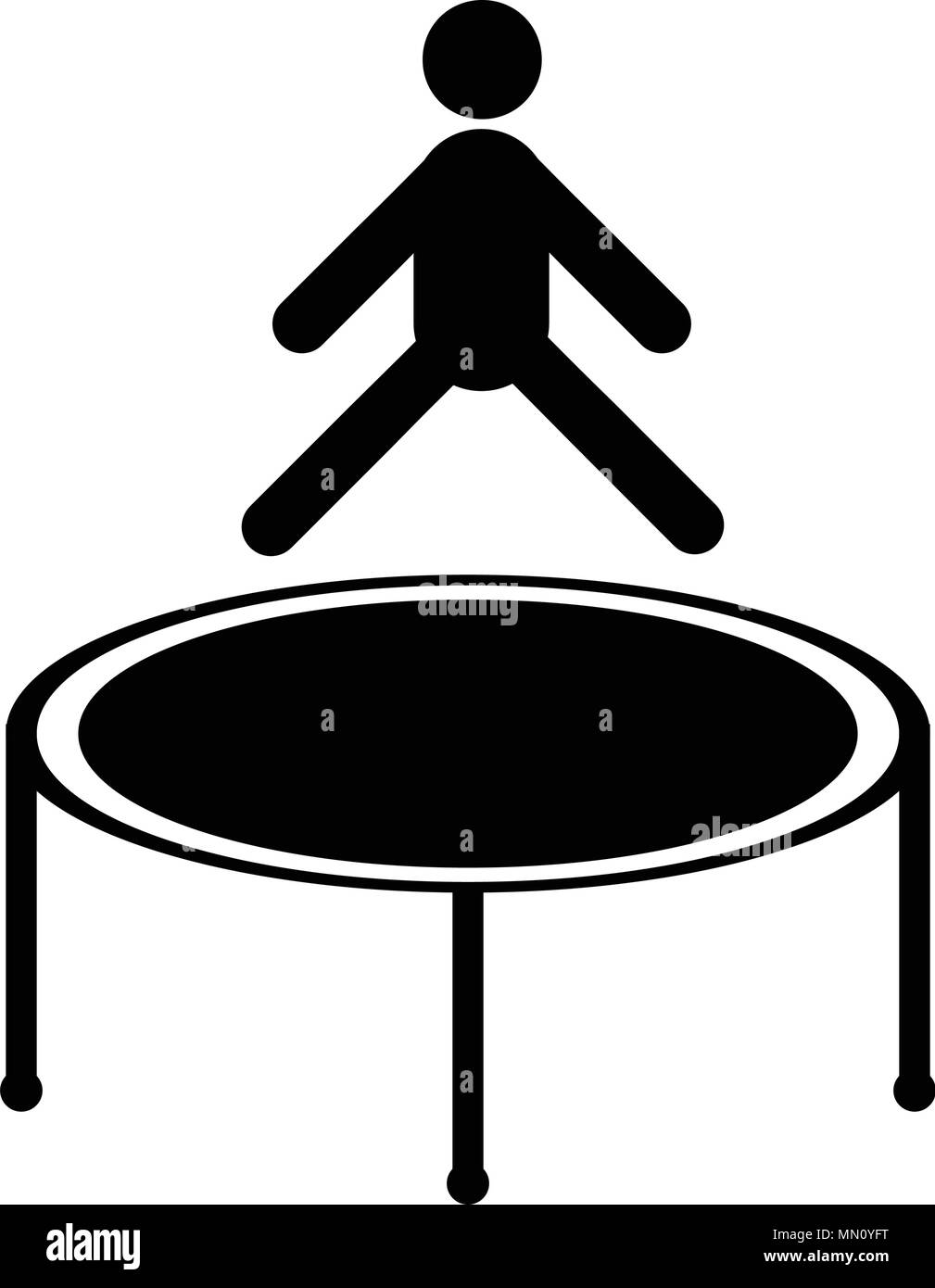 Jumping trampoline icon, isolated on white background - Stock Vector