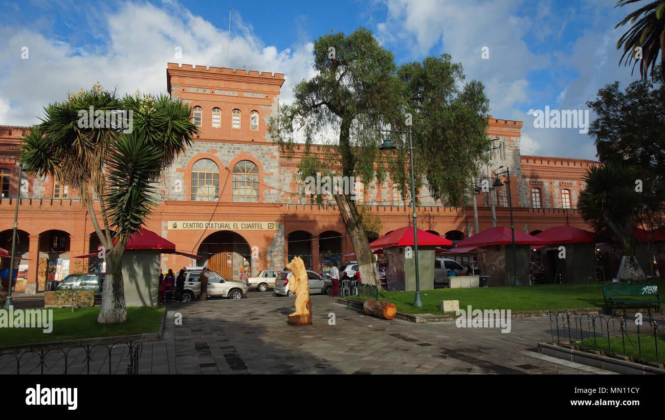 Front view of El Cuartel Cultural Center seen from La Merced park - Stock Image