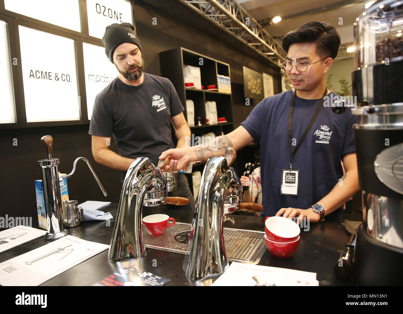 8ef76f20ba World champion latte artists Luke Schilling and Lucky Salvador showcase  their skills at the seventh annual London Coffee Festival
