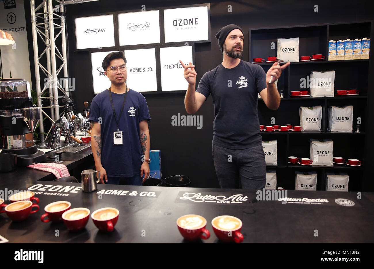 e2ab9c76dd World champion latte artists Luke Schilling and Lucky Salvador showcase  their skills at the seventh annual ...