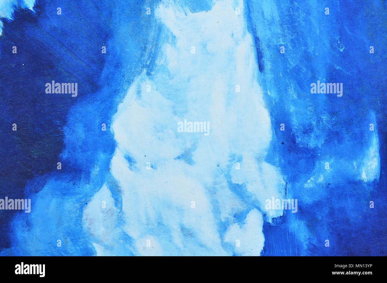 White And Blue Watercolor Paints Are Mixed On Canvas Texture Wallpaper Background Stock Photo Alamy
