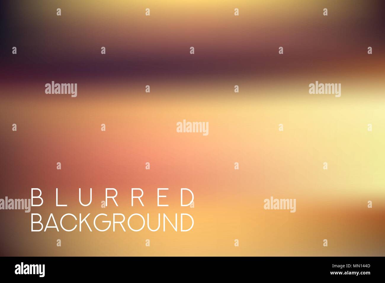 horizontal wide brown blurred background - Stock Vector