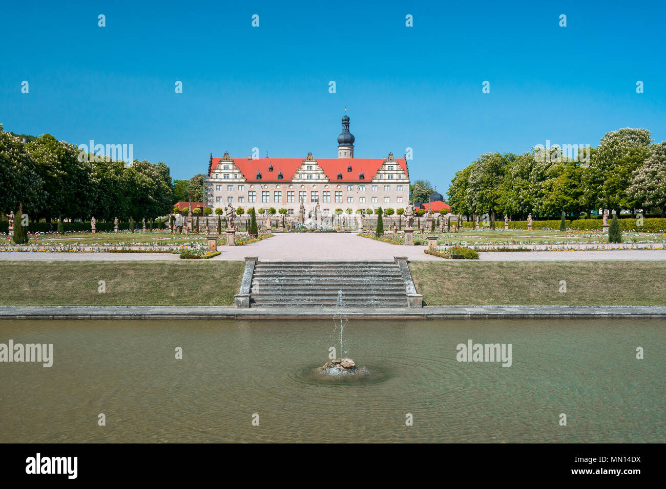 Majestic view of Weikersheim Schloss or Weikersheim Castle, Baden-Wurttemberg , Germany. - Stock Image