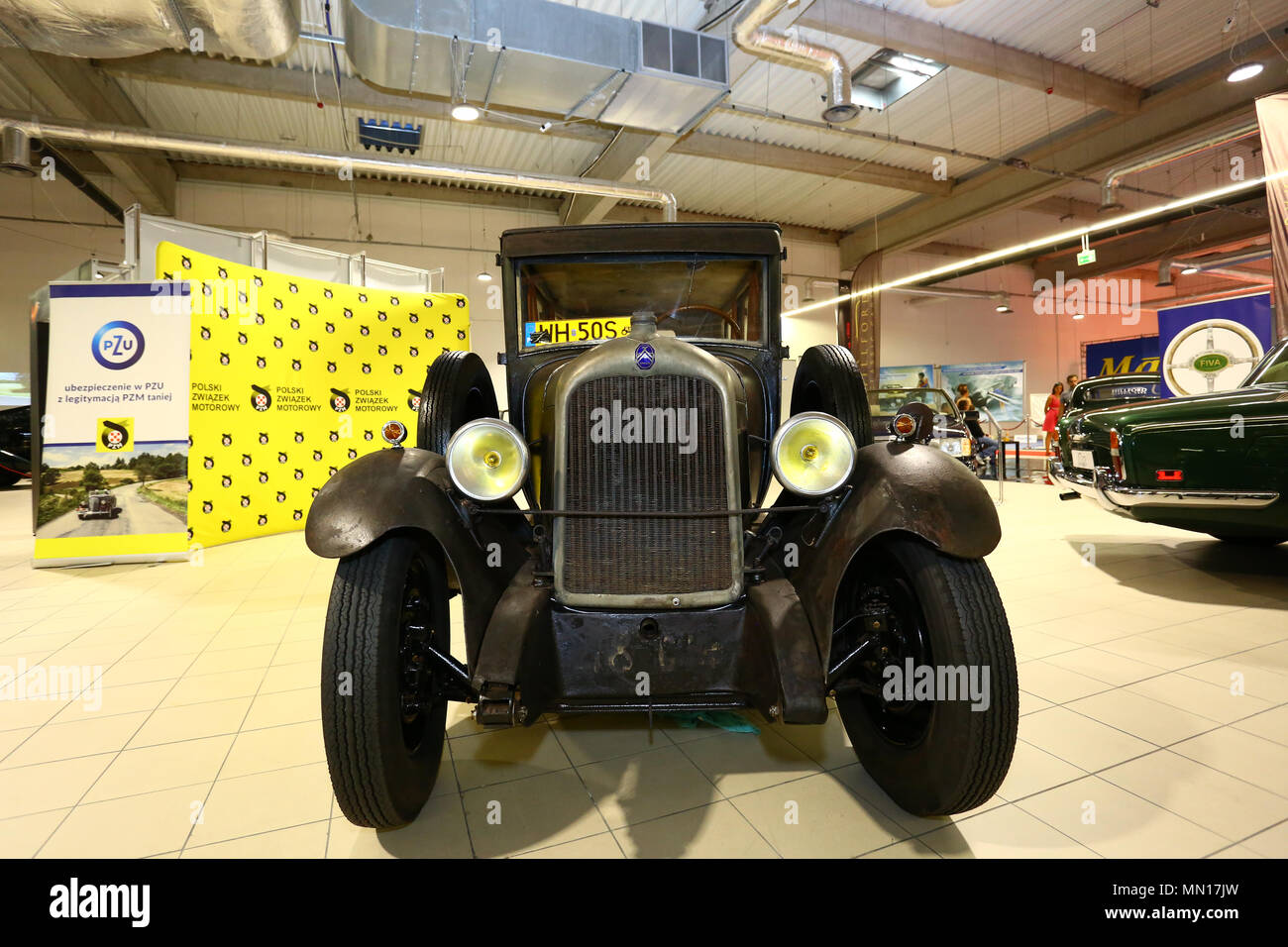 Poland, Nadarzyn, 13th May 2018: PTAK expo center second day of Oldtimer Show. ©Madeleine Ratz/Alamy Live News Stock Photo