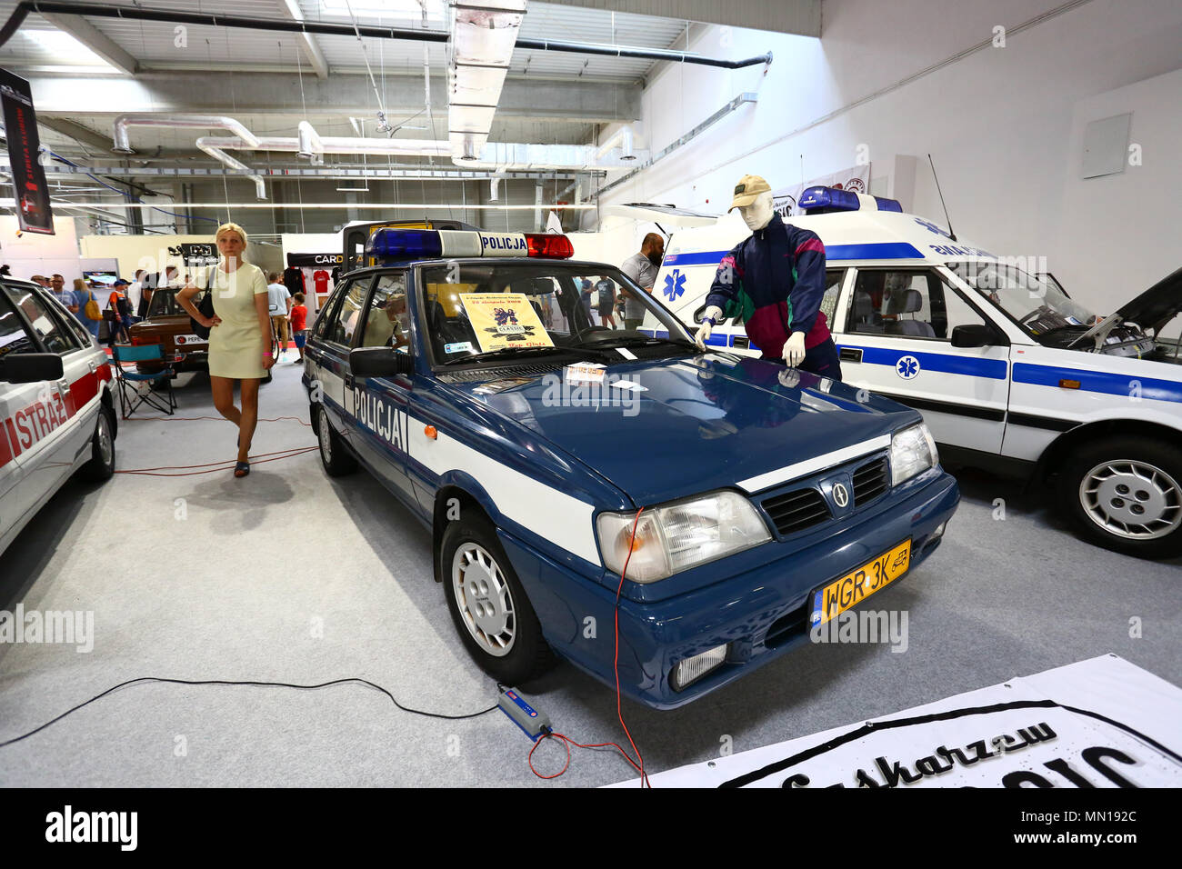 Poland, Nadarzyn, 13th May 2018: PTAK expo center second day of Oldtimer Show. ©Madeleine Ratz/Alamy Live News - Stock Image