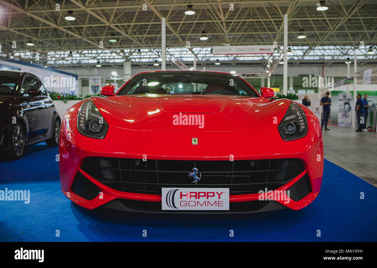 Naples Campania Italy Th May Ferrari F Exhibited - Naples car show 2018