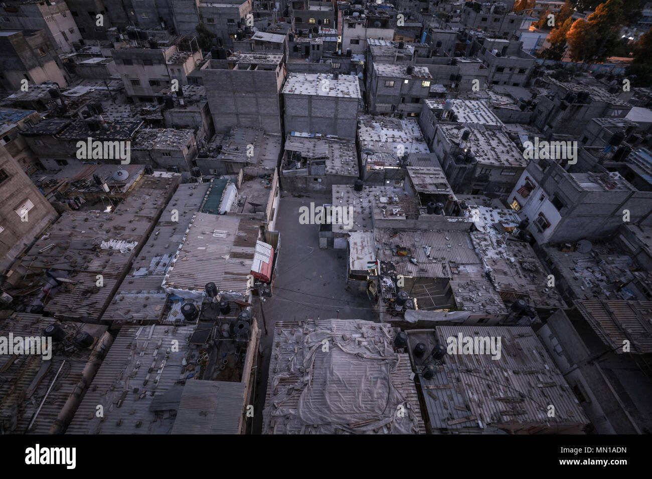 General View Palestinian Refugee Camp Stock Photos & General