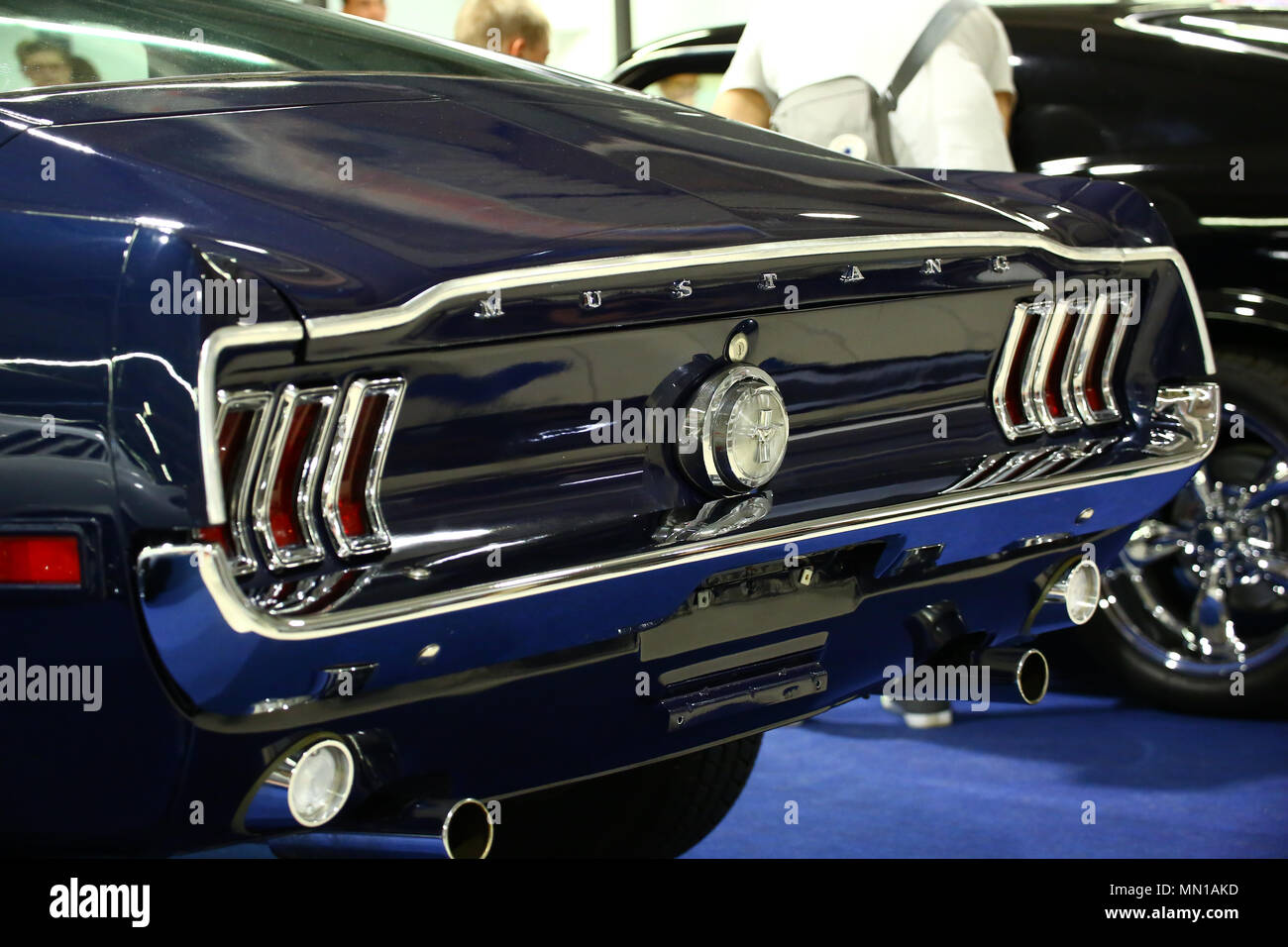 Poland, Nadarzyn, 13nd May 2018: Oldtimer Show hosts at PTAK Expo center, showing famous international brands and nostalgic Polish cars. ©Jake Ratz/Alamy Live News - Stock Image