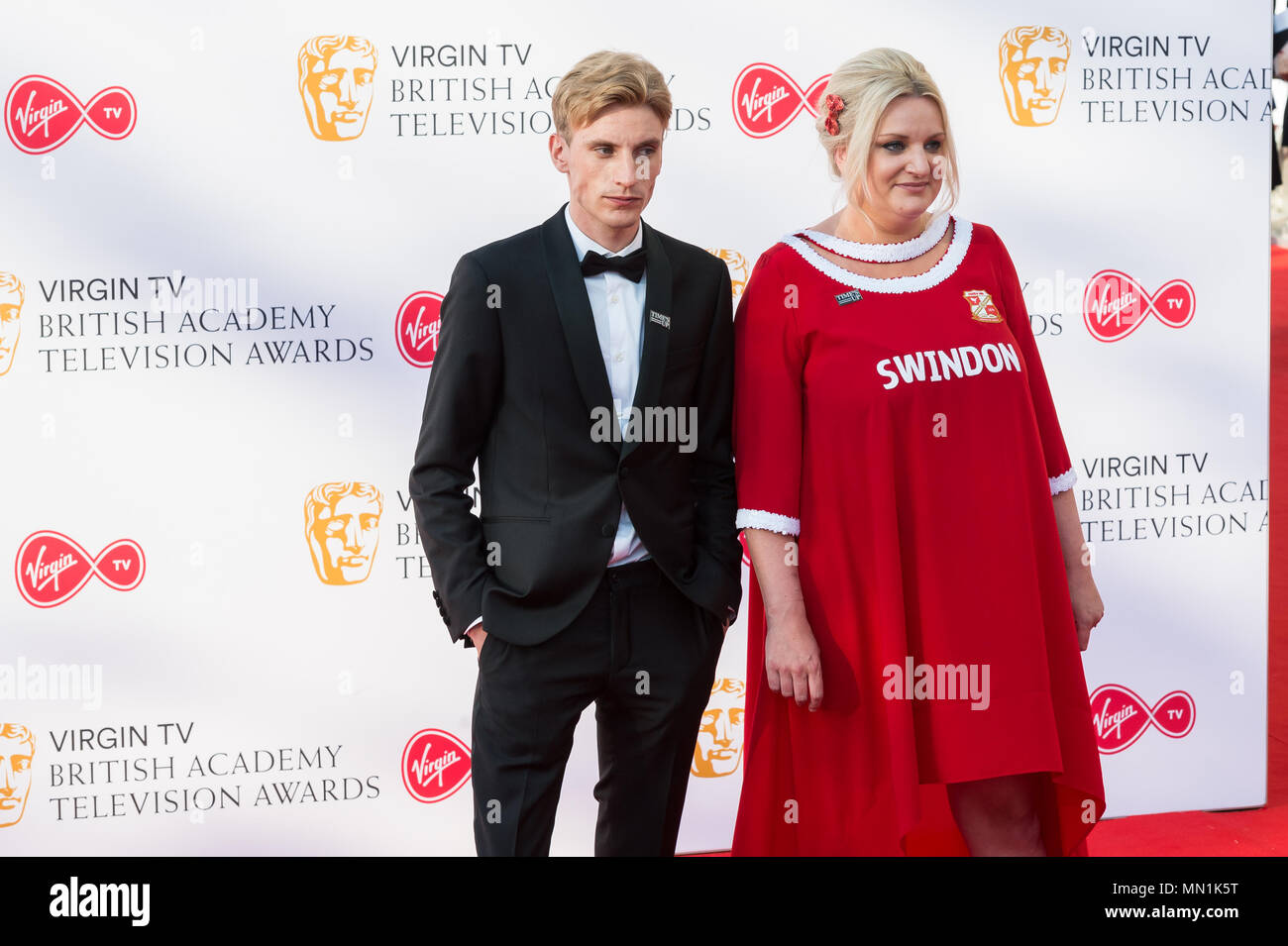London, UK. 13th May 2018. Charlie Cooper and Daisy May Cooper attend the Virgin TV British Academy Television Awards ceremony at the Royal Festival Hall. Credit: Wiktor Szymanowicz/Alamy Live News. Stock Photo