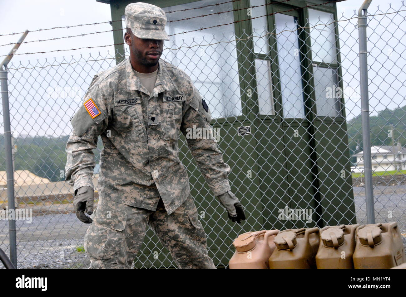 U S  Army Spc  Sterling Hairston with Headquarters and