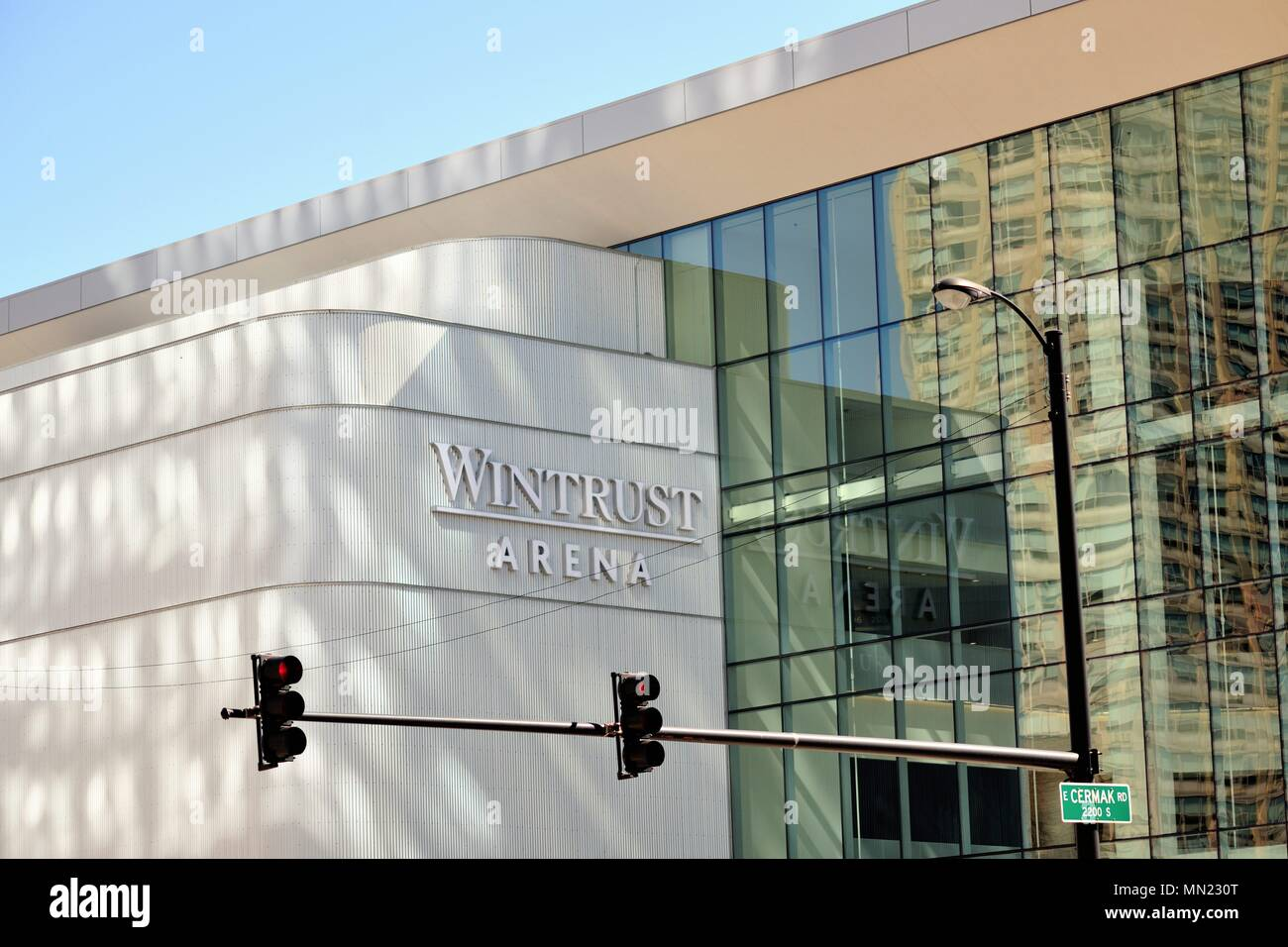 Chicago, Illinois, USA. Wintrust Arena on the near South Side of Chicago. The venue is home to both college and professional basketball teams. - Stock Image