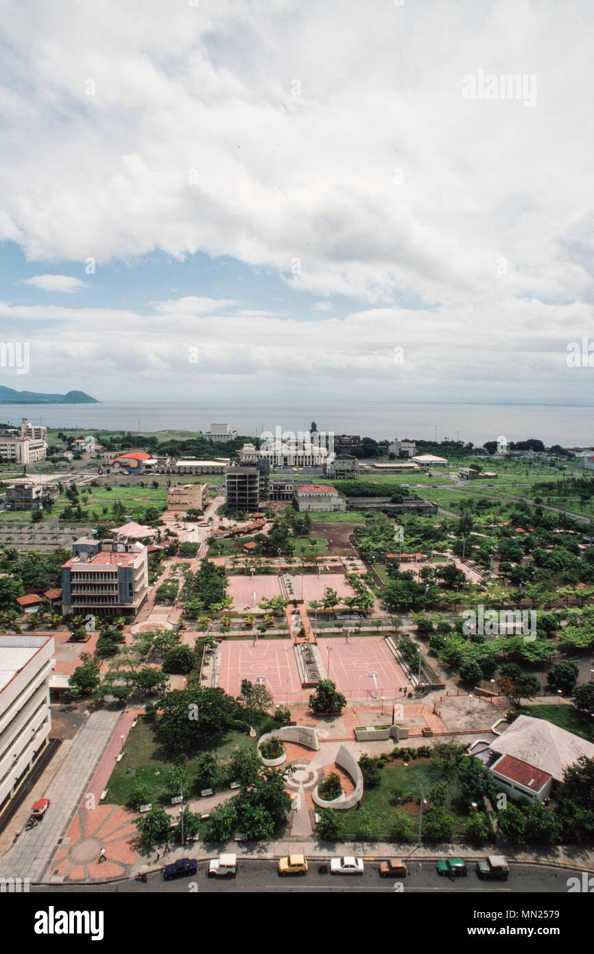Managua, Nicaragua, June 1986; The centre of the city is now a park. The city centre was destroyed in an earthquake in 1972. Stock Photo